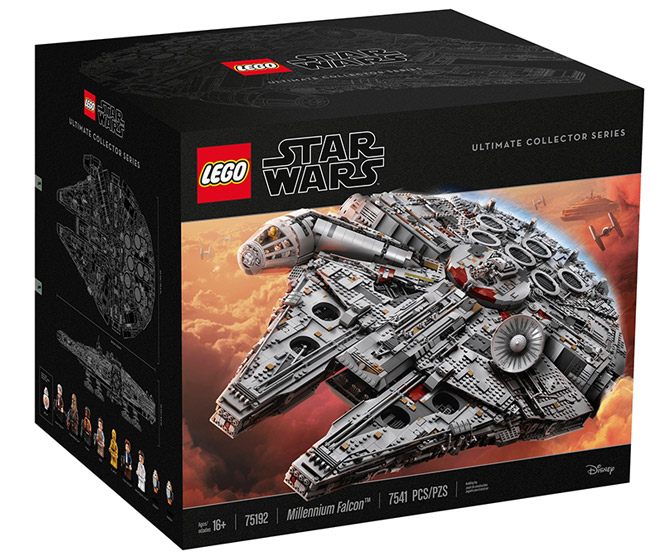 Massive LEGO Star Wars Millennium Falcon - 7,541 Pieces!