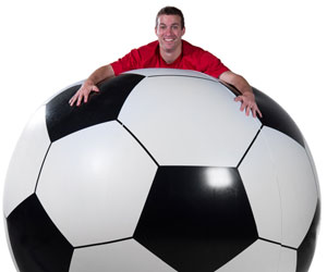 Massive 6' Inflatable Soccer Ball