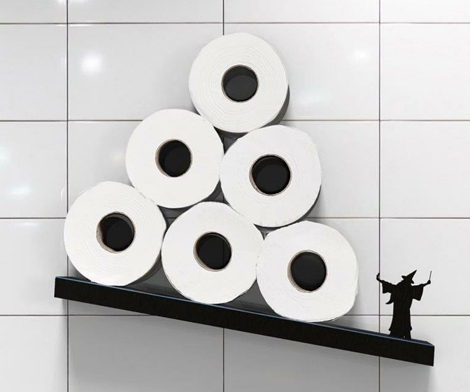 Merlin the Wizard Magical Toilet Paper Shelf