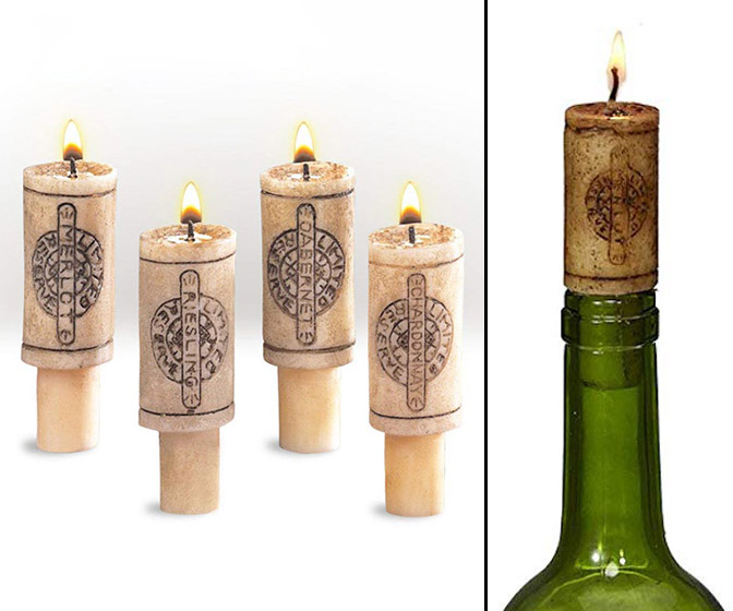 Merlot Scented Wine Cork Candles