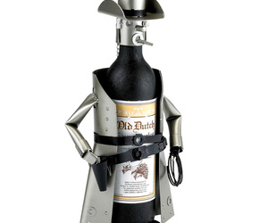 Metal Cowboy Wine Bottle Holder