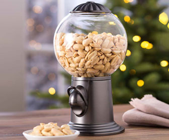 Metal and Glass Snack Dispenser