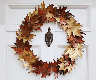 Metal Leaf Autumn Wreath