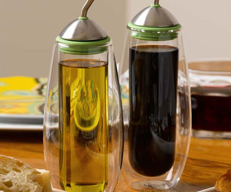 Miam.Miam Nebulea Oil and Vinegar Cruet Set