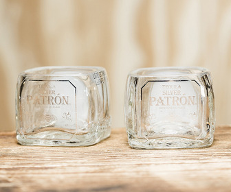Miniature Patron Tequila Bottle Shot Glasses