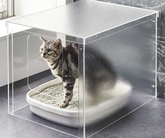 Minimalist Acrylic Cat Litter Box Cover