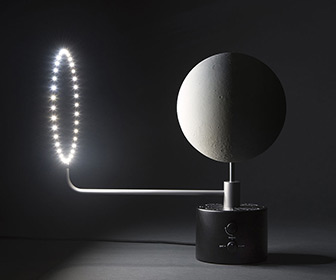 Moon Lamp - 1:20 Million Scale Replica w/ Illuminated Lunar Phases