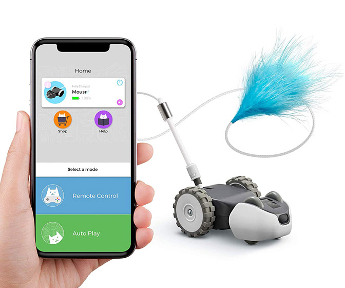 Mousr - App-Controlled Robotic Interactive Cat Toy