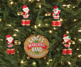 Mr. Christmas Santa's Marching Band - Coordinated Caroling Ornaments