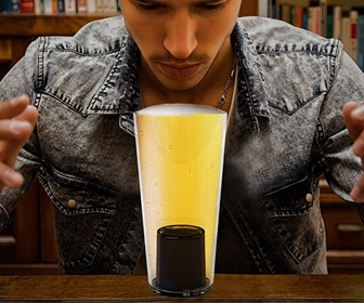 Mystic Pint Glass With Built-In Fortune Teller