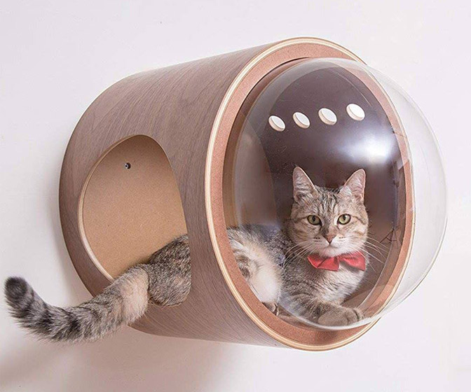 MYZOO Spaceship Gamma - Wall-Mounted Cat Perch
