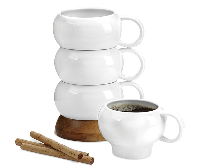 Nambe Bulbo - Coffee Mug Stack