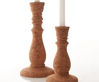 Natural Cork Candlesticks