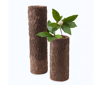 Natural Tree Trunk Flower Vases