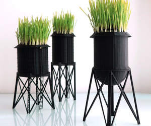 New York City Water Tower Wheatgrass Planters