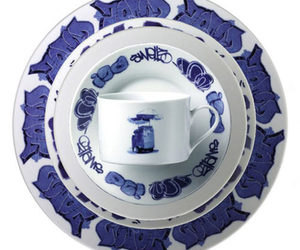New York Delft - Graffiti Inspired Dinnerware