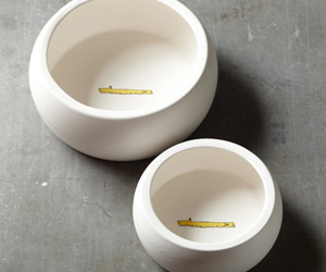 No-Splash Ceramic Dog Bowls