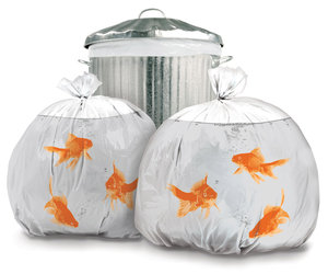 Novelty Goldfish Trash Bags - 100% Biodegradable!