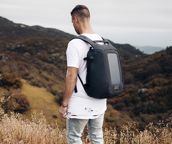 Numi Smart Travel Backpack With Solar Panel