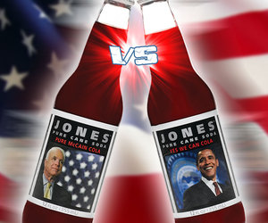 Obama and McCain Campaign Colas from Jones Soda
