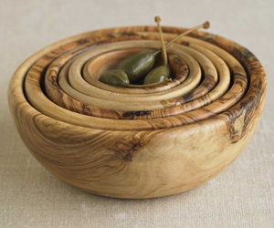Olive Wood Bowl Set