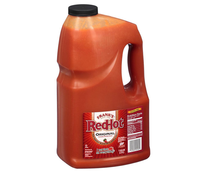 One Gallon Jug of Frank's RedHot Cayenne Pepper Sauce