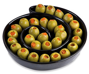 Optical Illusion Olive Tray