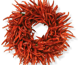 Organic Chili Pepper Wreath