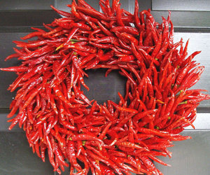 Organic Red Chili Pepper Wreath