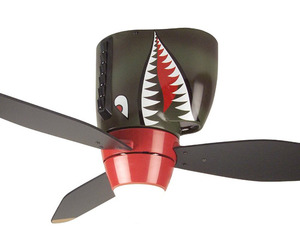 P-40 WWII Tiger Shark Warplane Ceiling Fan