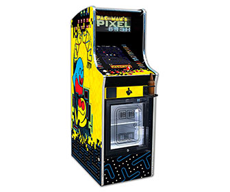 Pac-Man Pixel Bash Chill - 32 Game Arcade w/ Built-In Mini Fridge