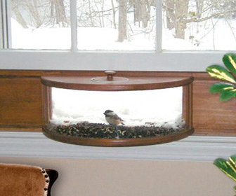 Panoramic In-House Window Bird Feeder With One-Way Mirror