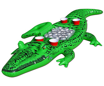 Party Gator - Giant Inflatable Alligator w/ Built-In Cooler and Cupholders