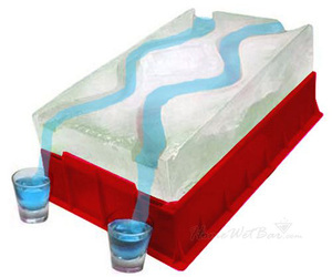 Party Ice Luge - Race Your Shots Down the Icey Slopes!