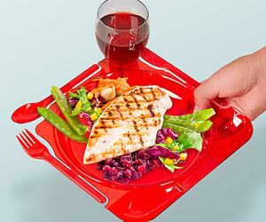 Party Plates With Snap Off Utensils
