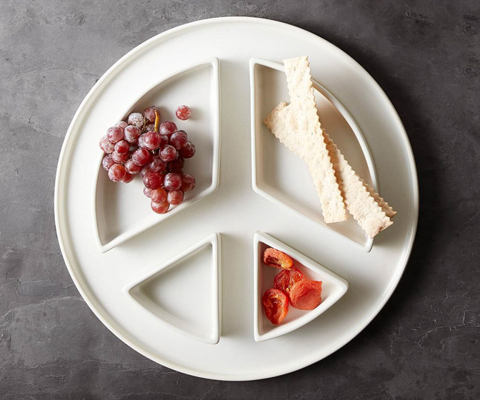 Peace Sign Serving Platter