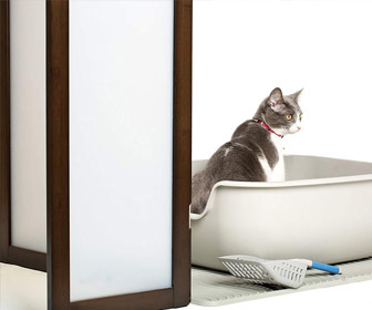 PetFusion ModestCat - Stylish Litter Box Privacy Screen