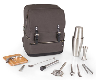 Picnic Time Bar Backpack - 16 Piece Portable Cocktail Set