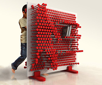 PinPres Shelf - Giant Interactive Pin Press Storage Shelf
