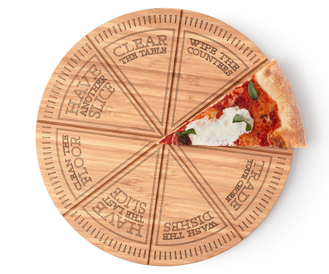 Pizza Roulette Cut and Serve Board