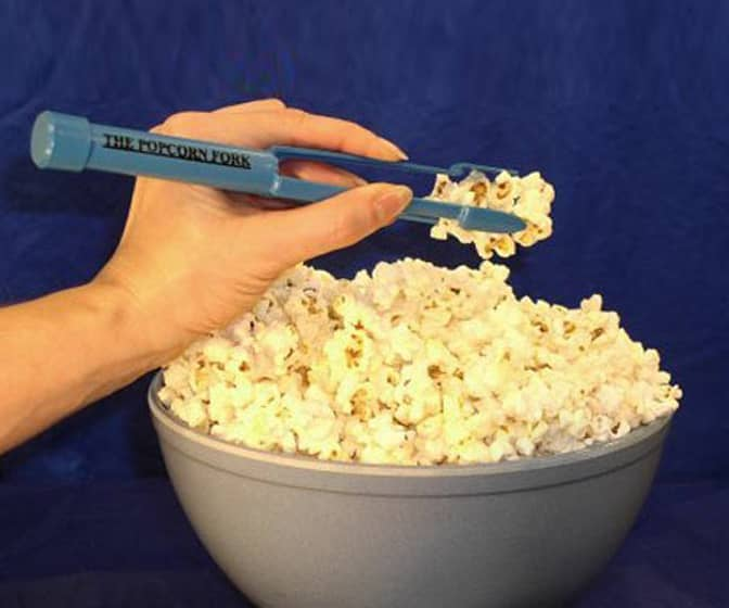 Popcorn Fork With a Built-In Salt Shaker