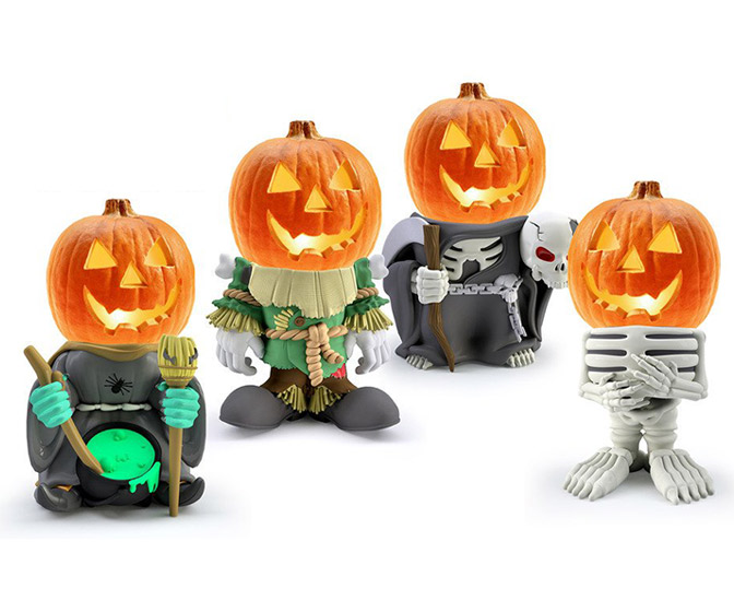 Pumpkin People - Whimsical Halloween Pumpkin Stands