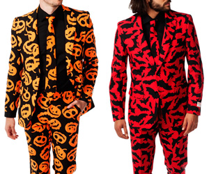 Pumpking and Bat Guy Halloween Costume Suits