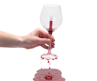 Pythagorean Wine Glass - Imbibe In Moderation ... or Else!
