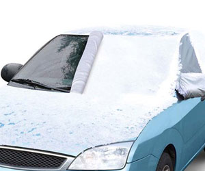 Quick-Attach Magnetic Windshield Snow Cover