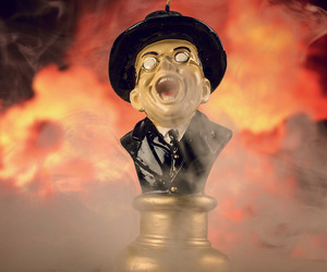 Raiders of the Lost Ark Melting Toht Head Candle