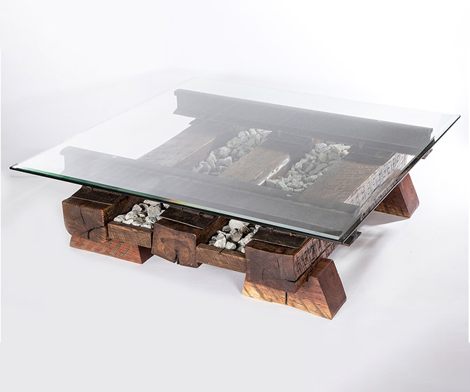 Railroad Tracks Coffee Table