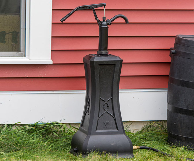 Rain Barrel Hand Pump Stand