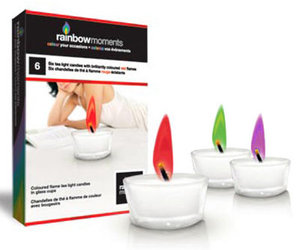 Rainbow Moments - Colored Flame Tea Lights
