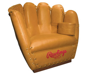Rawlings Leather Baseball Glove Chair